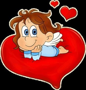 Милые картинки ангелочков с сердечками020