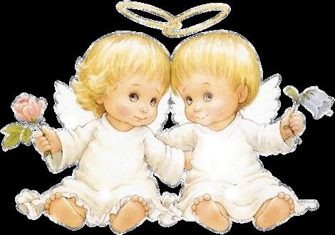 Милые картинки ангелочков с сердечками021