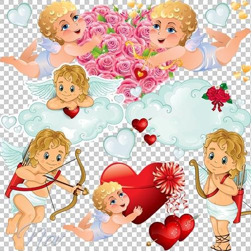 Милые картинки ангелочков с сердечками023
