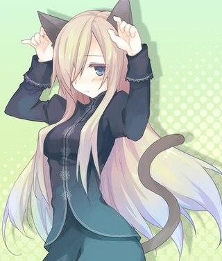 Милые картинки аниме кошечки девушки008