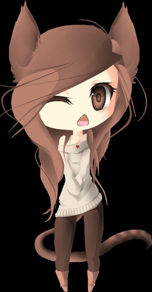 Милые картинки аниме кошечки девушки017