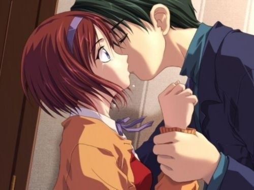 Милые картинки аниме неожиданный поцелуй001