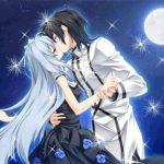 Милые картинки аниме неожиданный поцелуй
