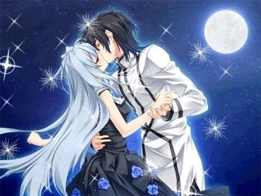 Милые картинки аниме неожиданный поцелуй005