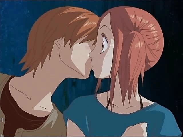 Милые картинки аниме неожиданный поцелуй010