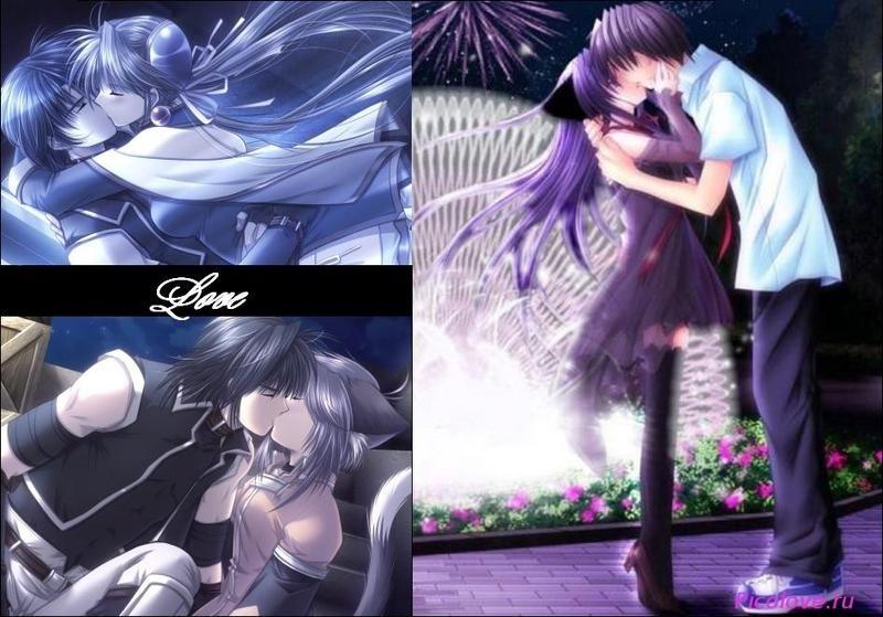 Милые картинки аниме неожиданный поцелуй014