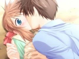 Милые картинки аниме неожиданный поцелуй017