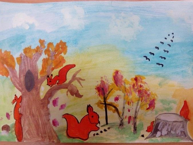 Милые картинки про октябрь для детского сада001
