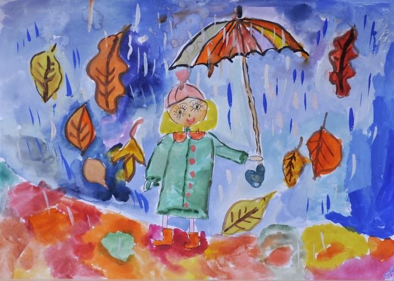 Милые картинки про октябрь для детского сада004