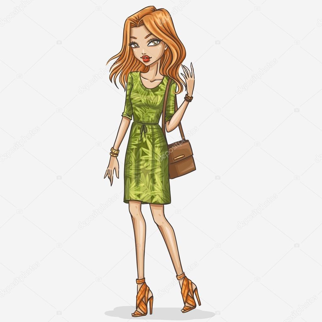 Модные девушки нарисованные картинки001