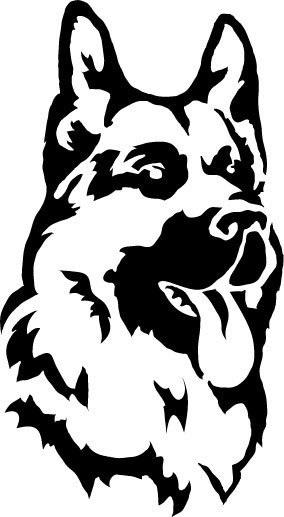 Морда собаки трафарет картинки002