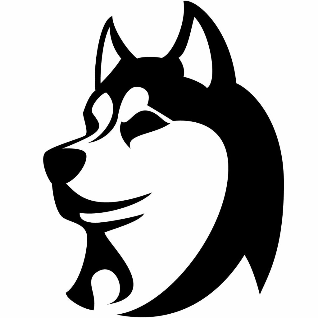Морда собаки трафарет картинки003