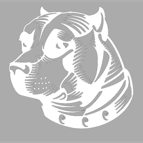 Морда собаки трафарет картинки007