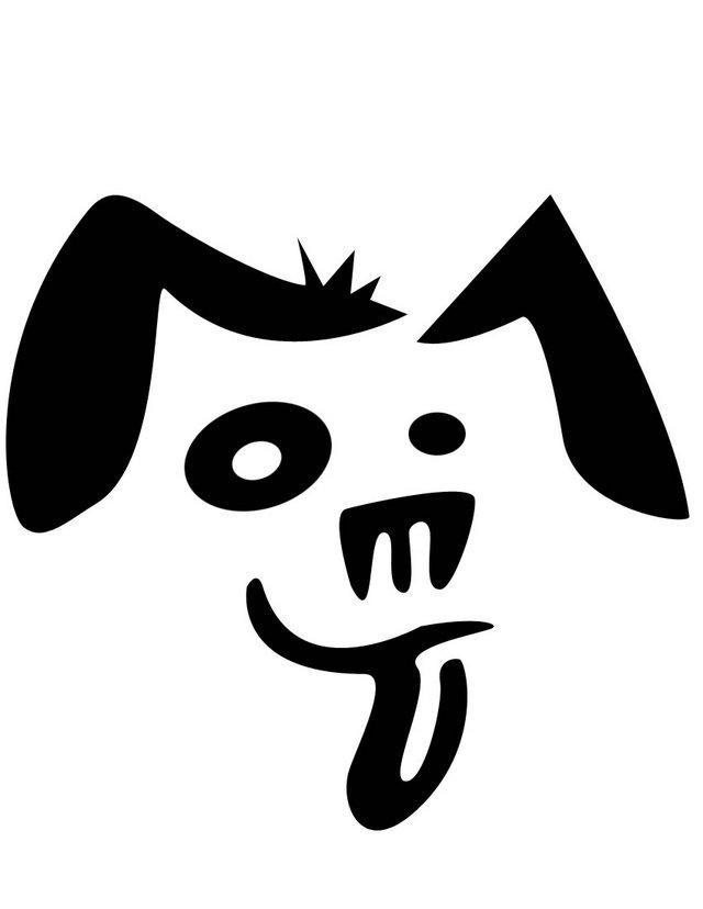 Морда собаки трафарет картинки010