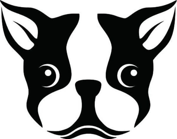 Морда собаки трафарет картинки012