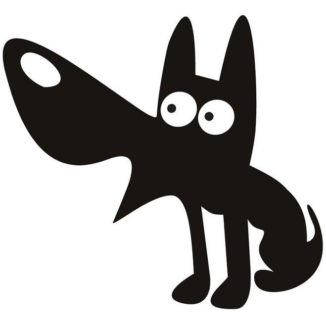 Морда собаки трафарет картинки017