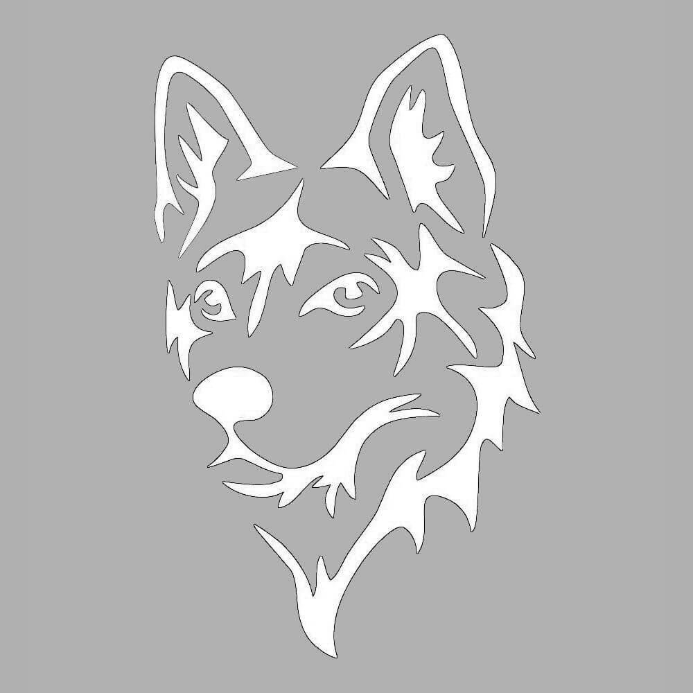 Морда собаки трафарет картинки020
