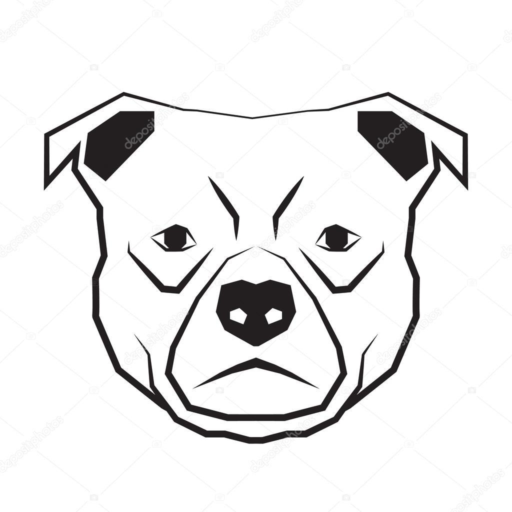 Морда собаки трафарет картинки023