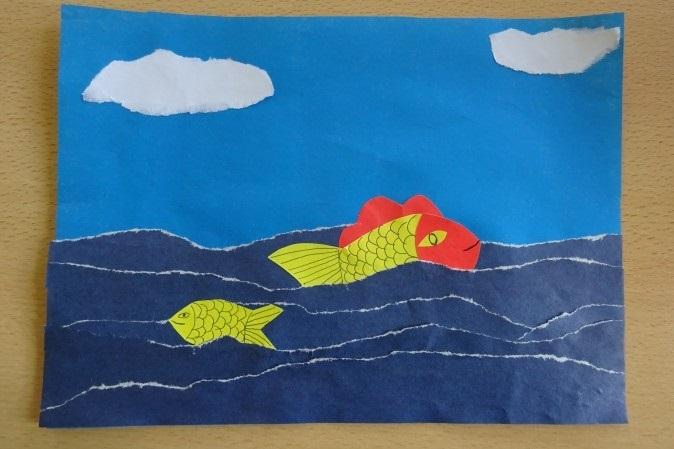 Морской пейзаж поделка для детей001