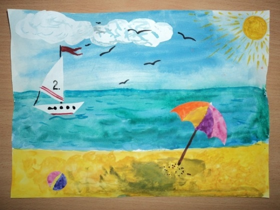 Морской пейзаж поделка для детей004