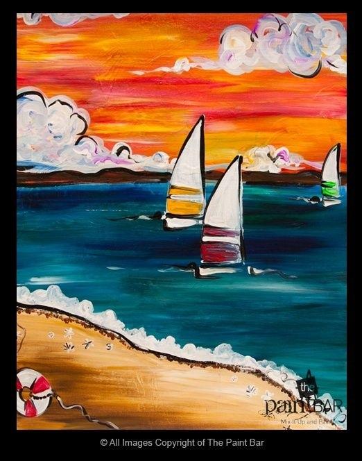Морской пейзаж поделка для детей007