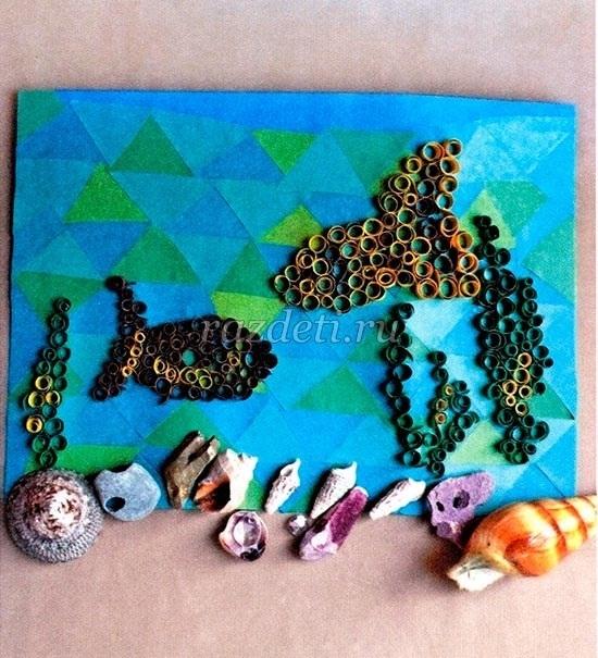 Морской пейзаж поделка для детей009