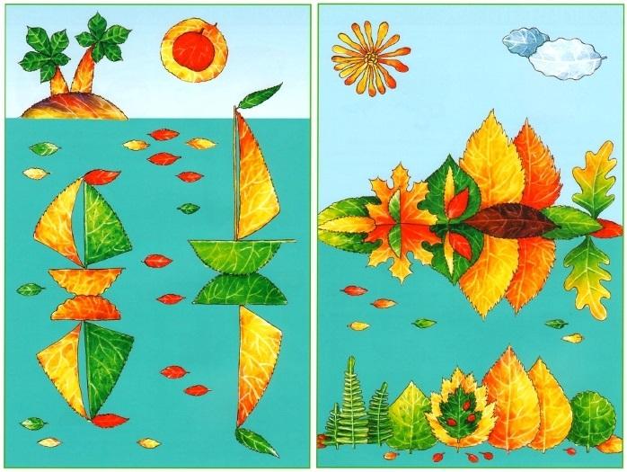 Морской пейзаж поделка для детей013