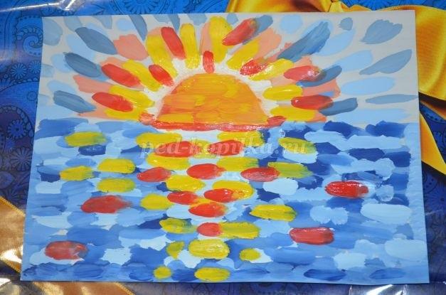 Морской пейзаж поделка для детей022