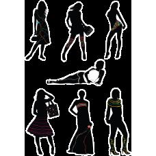 Наклейки для девочек черно-белые (16)