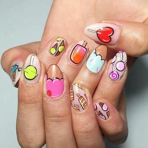 Накрашенные ногти прикольные картинки - подборка (1)
