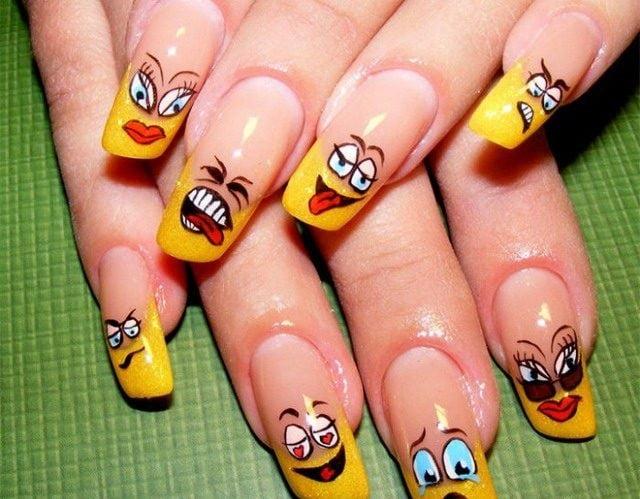 Накрашенные ногти прикольные картинки - подборка (14)