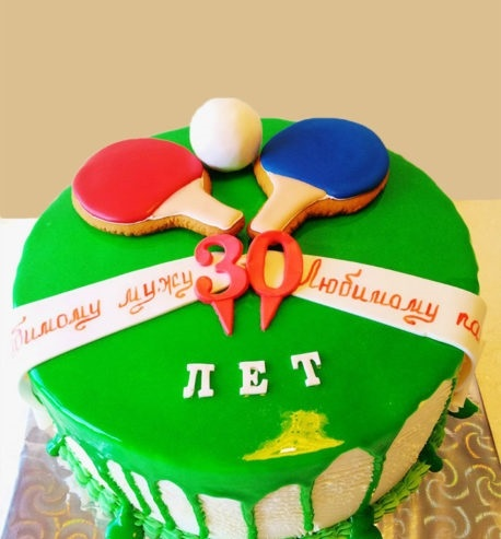 Настольный теннис торт фото001
