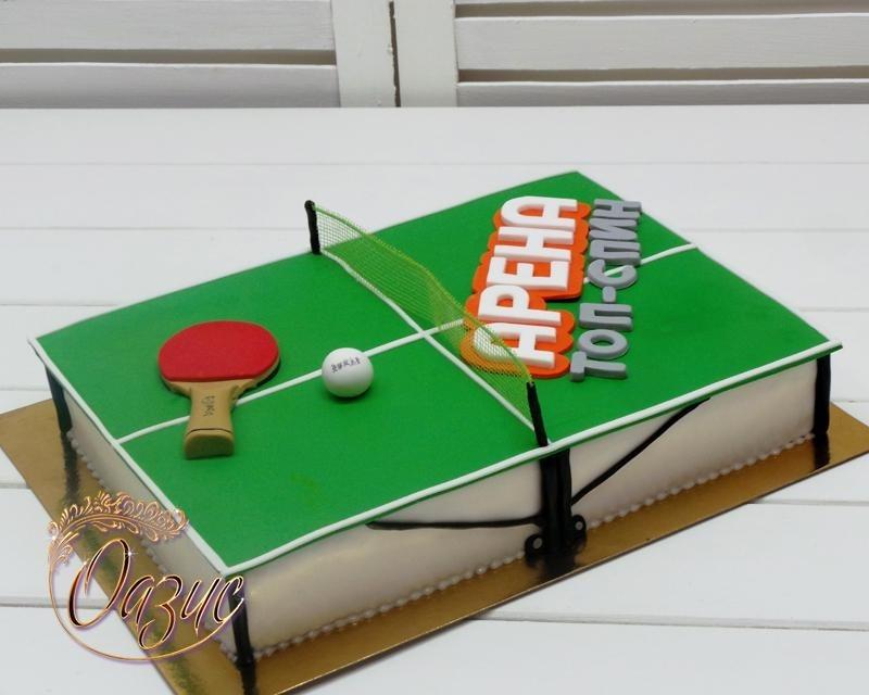 Настольный теннис торт фото003