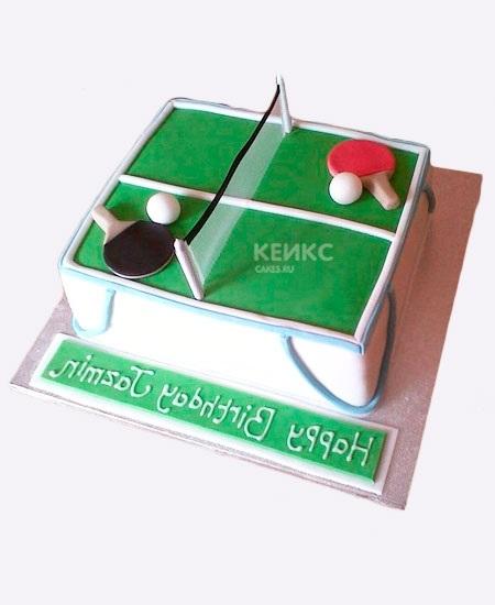 Настольный теннис торт фото005