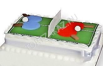 Настольный теннис торт фото006
