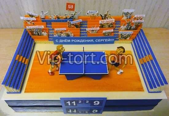 Настольный теннис торт фото007