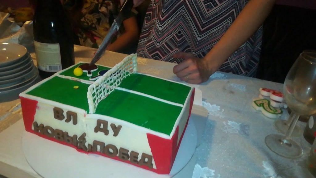 Настольный теннис торт фото012