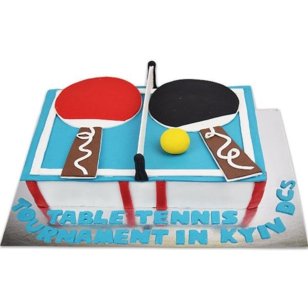 Настольный теннис торт фото013