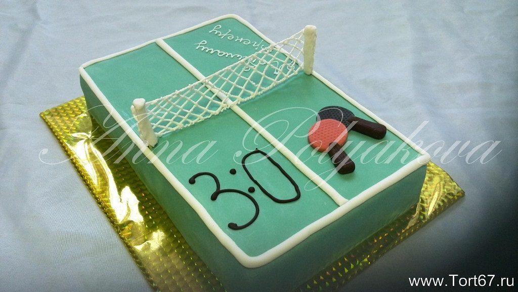Настольный теннис торт фото015