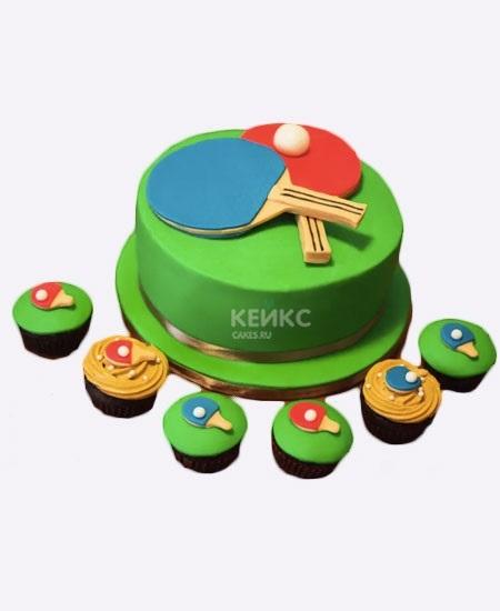 Настольный теннис торт фото017