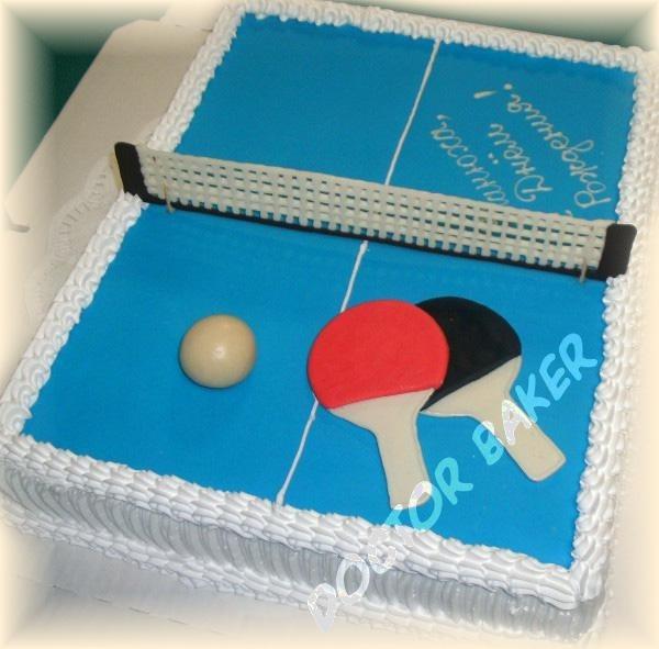 Настольный теннис торт фото020