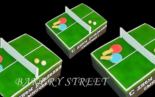 Настольный теннис торт фото021