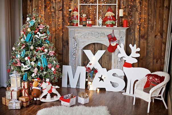 Новогоднее оформление фотостудий   лучшие фото (13)