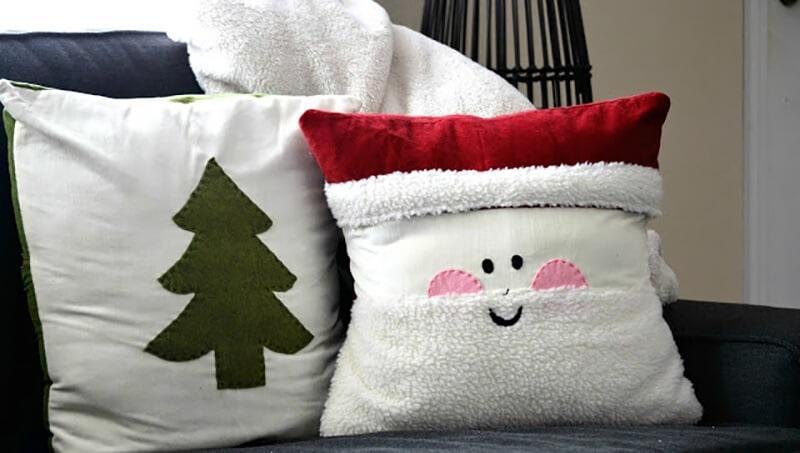 Новогодние наволочки на подушки своими руками002