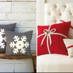 Новогодние наволочки на подушки своими руками — фото