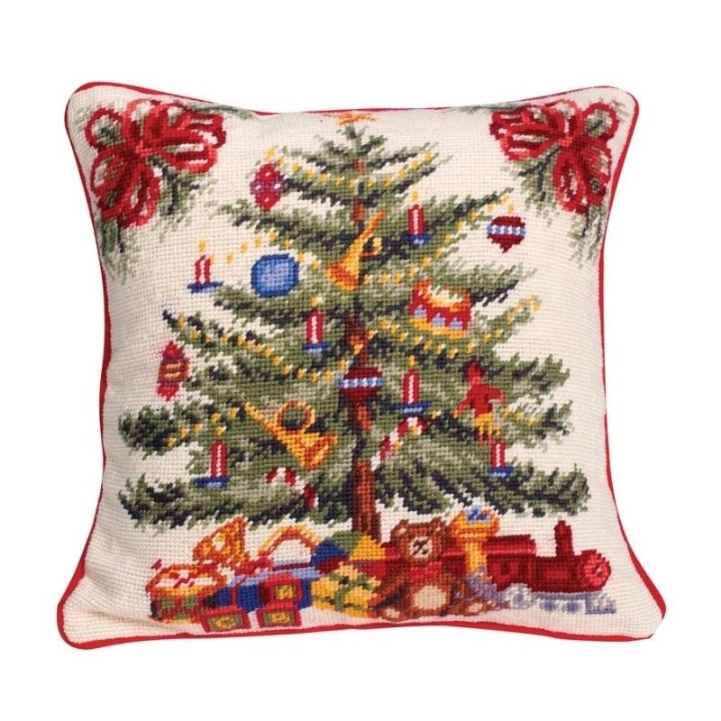 Новогодние наволочки на подушки своими руками013