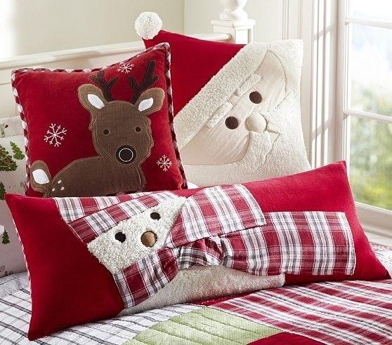 Новогодние наволочки на подушки своими руками014