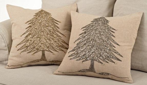 Новогодние наволочки на подушки своими руками016