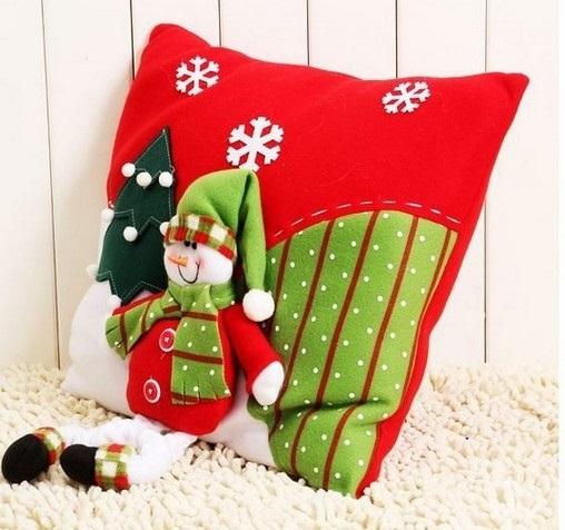 Новогодние наволочки на подушки своими руками021