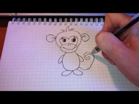 Обезьянки картинки для детей нарисованные010